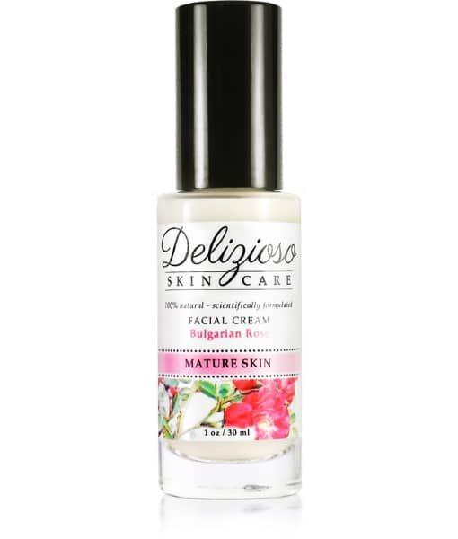 Organic Vegan - Bulgarian Rose Facial Cream - Delizioso Skincare