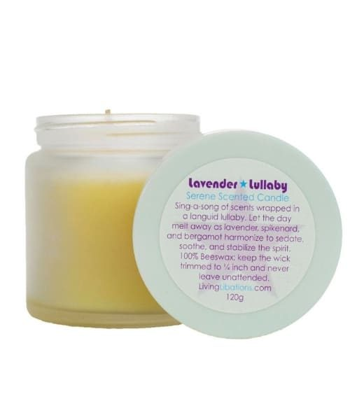 lavender lullaby serene scented candke - living libations