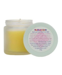 radiant love sensual scented candle living libations