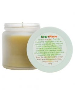trees please forest scented candle - living libations
