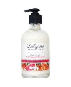 pink grapefruit mandarin body cream - delizioso skincare