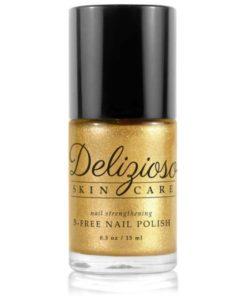 Delizioso Skincare - Celestial Gold 5-Free Nail Strengthening Nail Polish