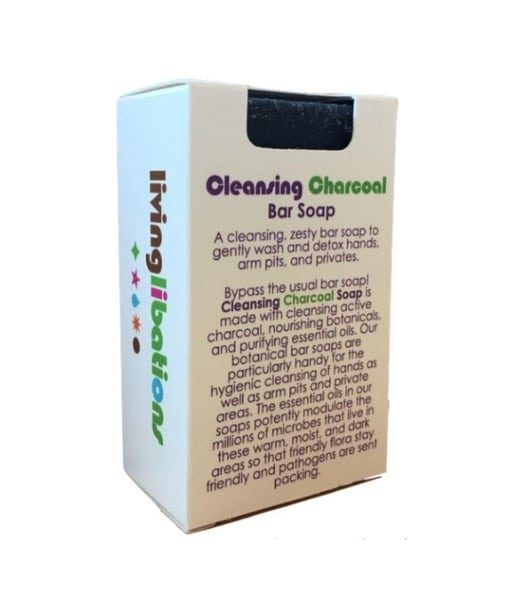 cleansing charcoal soap - living libations 1
