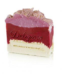 White Chocolate Raspberry Palm-Free Artisan Soap - Delizioso Skincare