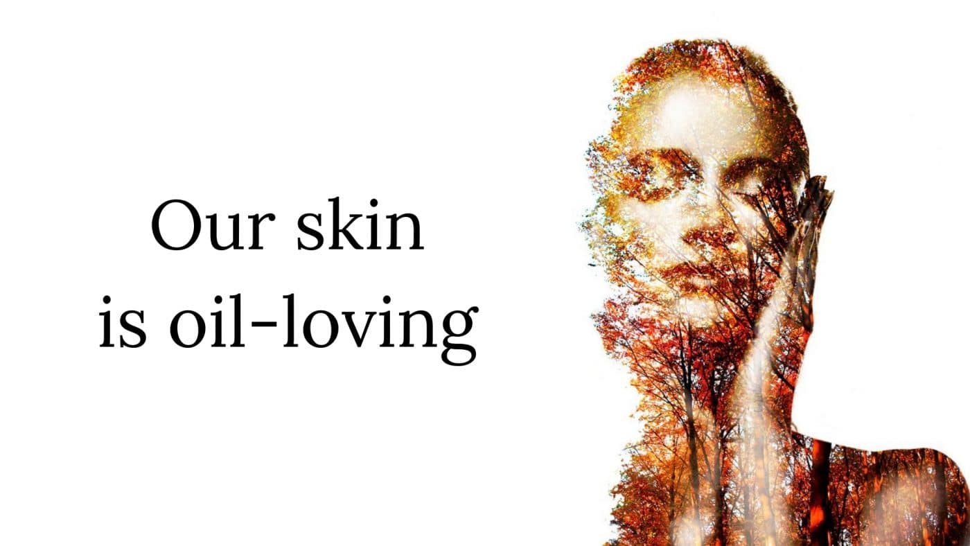 Moisturisers - Our skin is oil-loving