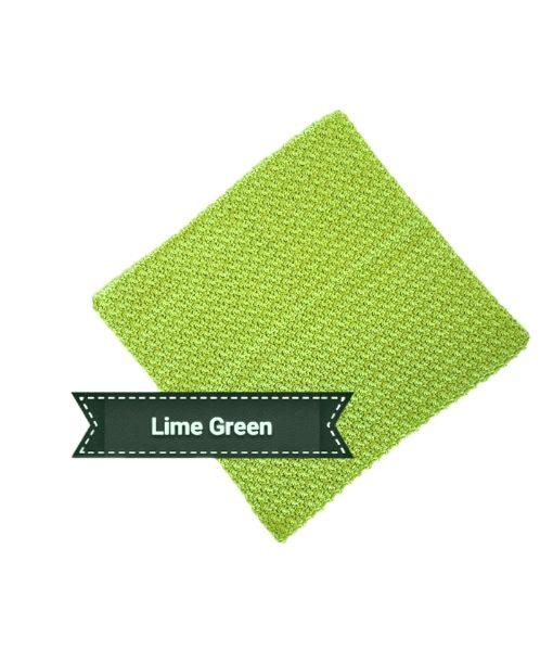 Cotton face cloth lime green