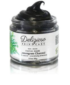 Lemongrass charcoal detox mask - Delizioso Skincare