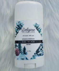 botanical vegan deodorant - firewood - delizioso skincare