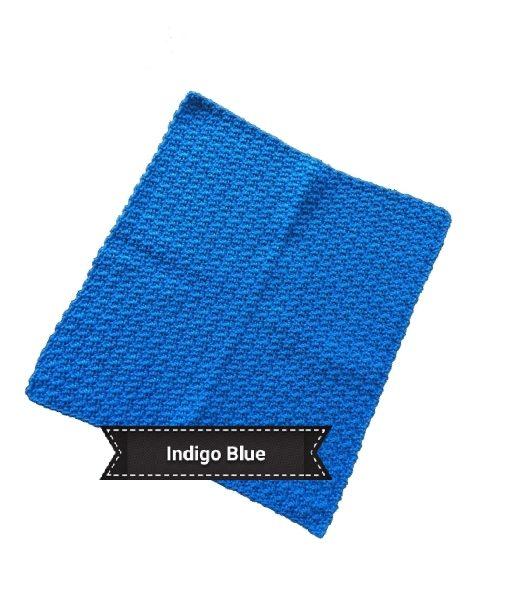 cotton face cloth indigo blue 1