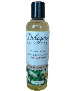 Delizioso Skincare5 Vanilla Sorbet Bath & Massage Oil
