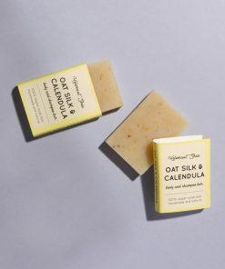 Helemaalshea - Oatsilk & Calendula Body & Shampoo Bar -Mini 2