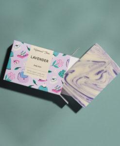 Helemaalshea - lavender Soap2
