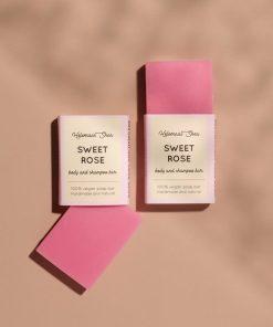 helemaalshea - Sweet Rose Body & Shampoo Bar - Mini 2