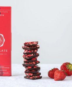 Chocqlat - Bio Virgin Cacao Schokolade Erdbeere1