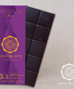 Chocqlate - Bio Virgin Cacao Shokolade Pur 1